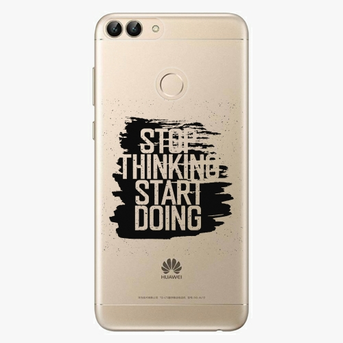 Silikonové pouzdro iSaprio - Start Doing black na mobil Huawei P Smart