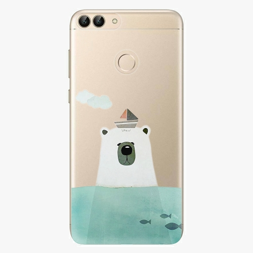 Silikonové pouzdro iSaprio - Bear With Boat na mobil Huawei P Smart