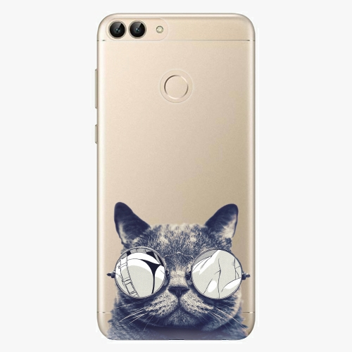 Silikonové pouzdro iSaprio - Crazy Cat 01 na mobil Huawei P Smart