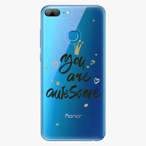 Silikonové pouzdro iSaprio - You Are Awesome black na mobil Honor 9 Lite