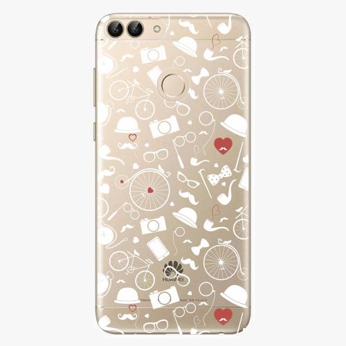 Silikonové pouzdro iSaprio - Vintage Pattern 01 white na mobil Huawei P Smart