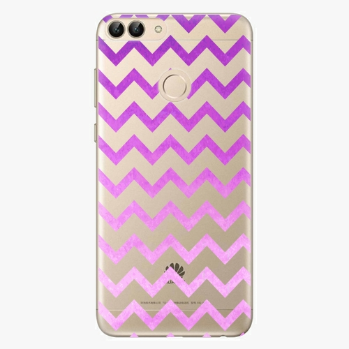 Silikonové pouzdro iSaprio - Zigzag purple na mobil Huawei P Smart