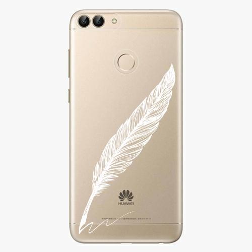 Silikonové pouzdro iSaprio - Writing By Feather white na mobil Huawei P Smart