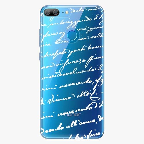 Silikonové pouzdro iSaprio - Handwriting 01 white na mobil Honor 9 Lite