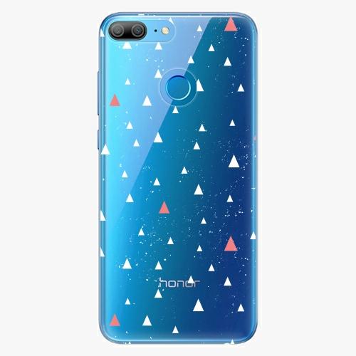 Silikonové pouzdro iSaprio - Abstract Triangles 02 white na mobil Honor 9 Lite