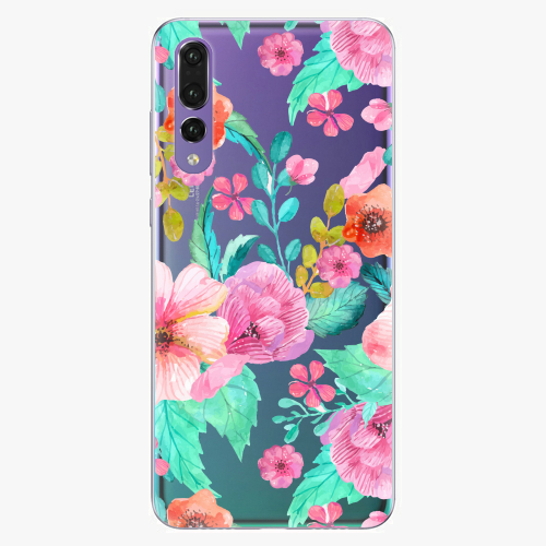Silikonové pouzdro iSaprio - Flower Pattern 01 na mobil Huawei P20 Pro