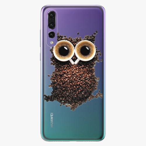 Silikonové pouzdro iSaprio - Owl And Coffee na mobil Huawei P20 Pro