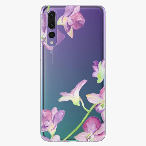 Silikonové pouzdro iSaprio - Purple Orchid na mobil Huawei P20 Pro