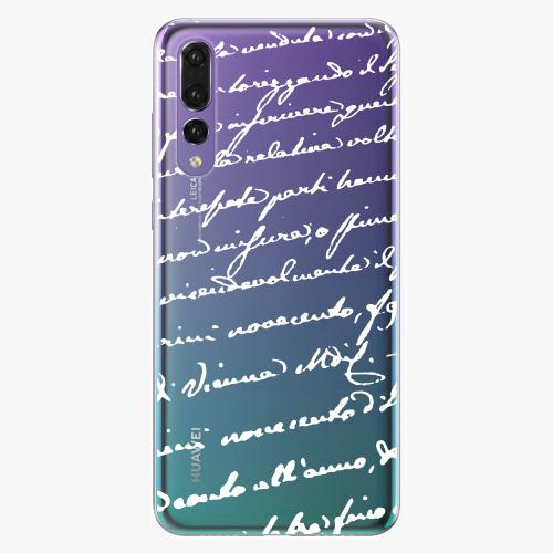 Silikonové pouzdro iSaprio - Handwriting 01 white na mobil Huawei P20 Pro