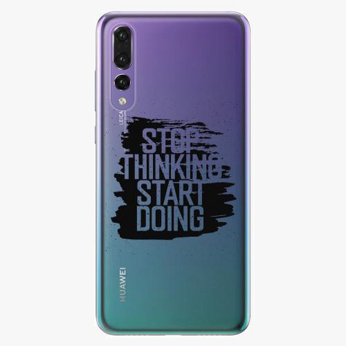 Silikonové pouzdro iSaprio - Start Doing black na mobil Huawei P20 Pro