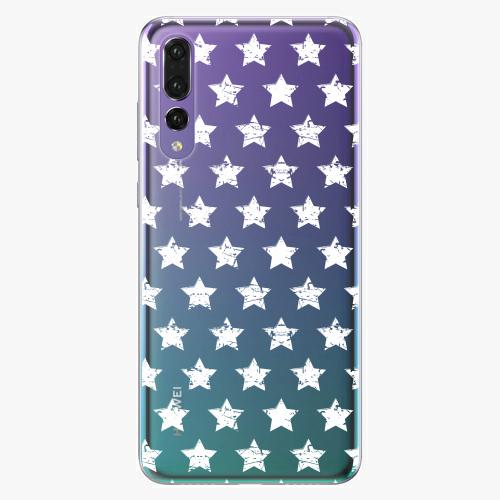 Silikonové pouzdro iSaprio - Stars Pattern white na mobil Huawei P20 Pro