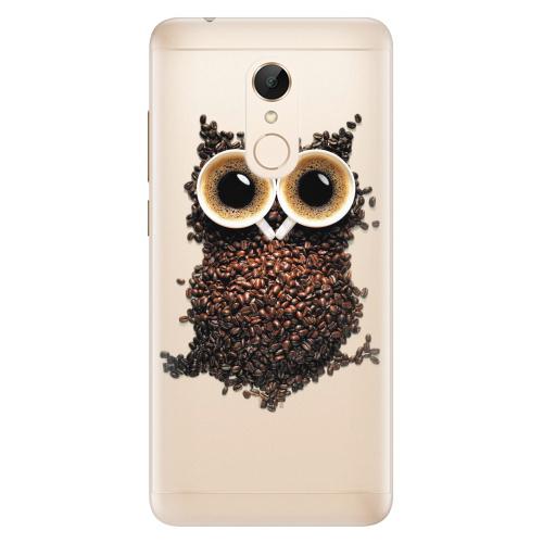 Silikonové pouzdro iSaprio - Owl And Coffee na mobil Xiaomi Redmi 5