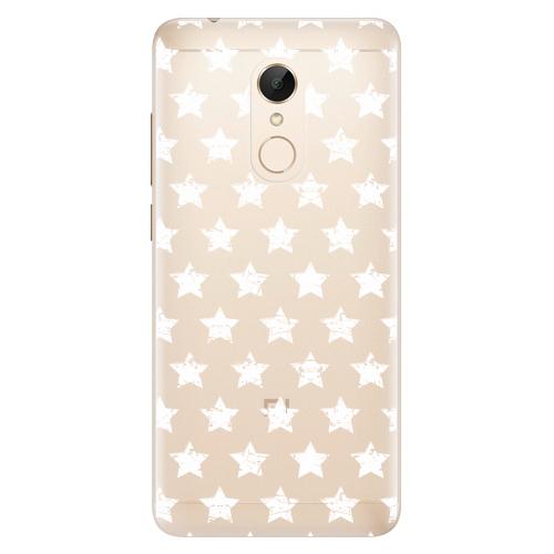 Silikonové pouzdro iSaprio - Stars Pattern white na mobil Xiaomi Redmi 5