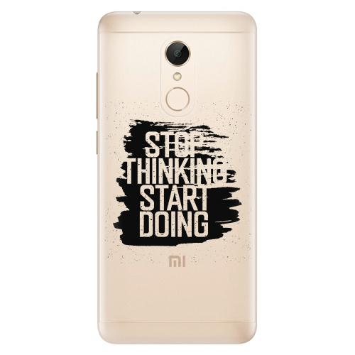 Silikonové pouzdro iSaprio - Start Doing black na mobil Xiaomi Redmi 5