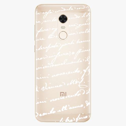 Silikonové pouzdro iSaprio - Handwriting 01 white na mobil Xiaomi Redmi 5 Plus