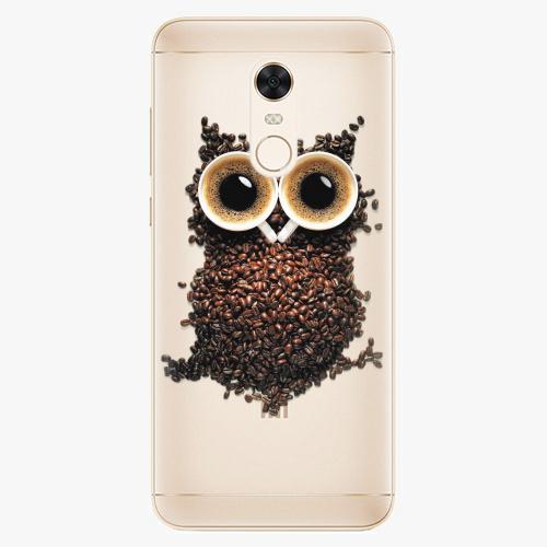 Silikonové pouzdro iSaprio - Owl And Coffee na mobil Xiaomi Redmi 5 Plus