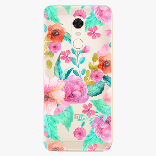 Silikonové pouzdro iSaprio - Flower Pattern 01 na mobil Xiaomi Redmi 5 Plus