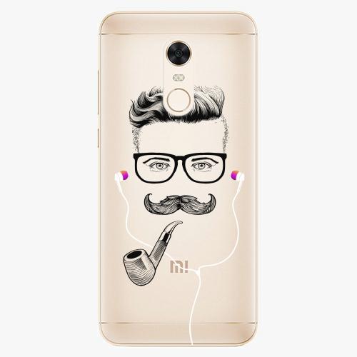 Silikonové pouzdro iSaprio - Man With Headphones 01 na mobil Xiaomi Redmi 5 Plus