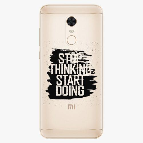 Silikonové pouzdro iSaprio - Start Doing black na mobil Xiaomi Redmi 5 Plus