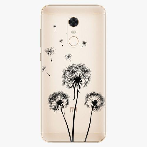 Silikonové pouzdro iSaprio - Three Dandelions black na mobil Xiaomi Redmi 5 Plus