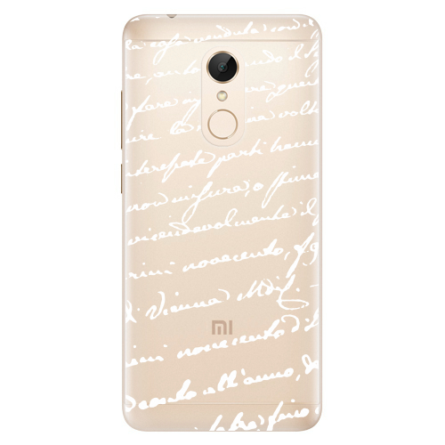 Silikonové pouzdro iSaprio - Handwriting 01 white na mobil Xiaomi Redmi 5