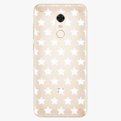 Silikonové pouzdro iSaprio - Stars Pattern white na mobil Xiaomi Redmi 5 Plus