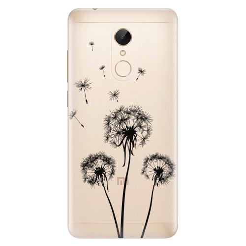 Silikonové pouzdro iSaprio - Three Dandelions black na mobil Xiaomi Redmi 5