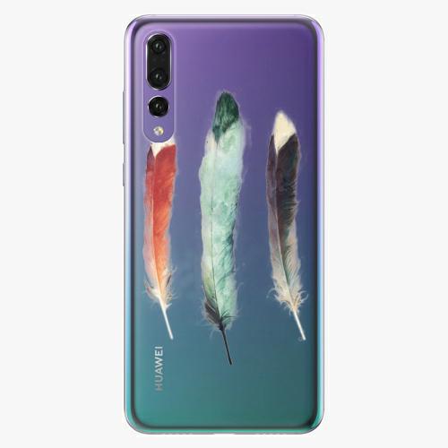 Silikonové pouzdro iSaprio - Three Feathers na mobil Huawei P20 Pro