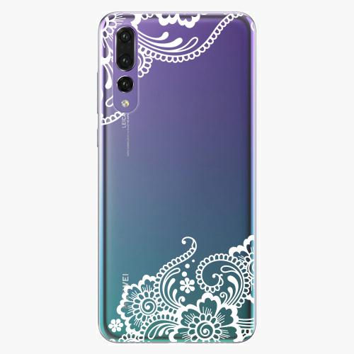 Silikonové pouzdro iSaprio - White Lace 02 na mobil Huawei P20 Pro