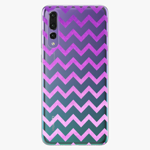 Silikonové pouzdro iSaprio - Zigzag purple na mobil Huawei P20 Pro