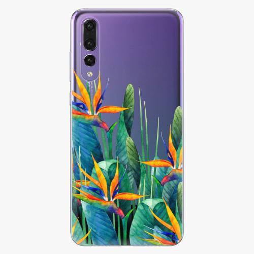 Silikonové pouzdro iSaprio - Exotic Flowers na mobil Huawei P20 Pro