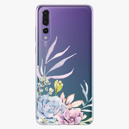 Silikonové pouzdro iSaprio - Succulent 01 na mobil Huawei P20 Pro