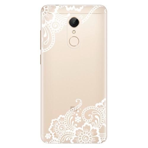 Silikonové pouzdro iSaprio - White Lace 02 na mobil Xiaomi Redmi 5