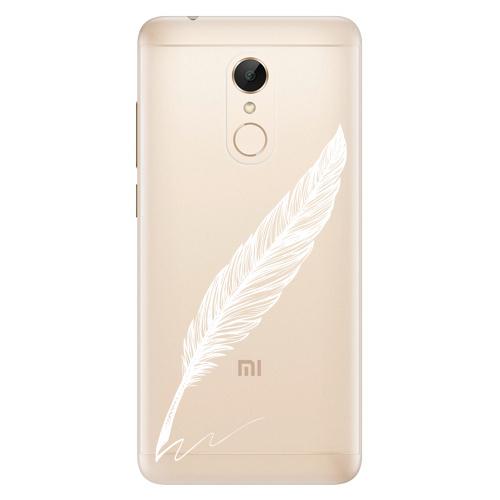 Silikonové pouzdro iSaprio - Writing By Feather white na mobil Xiaomi Redmi 5