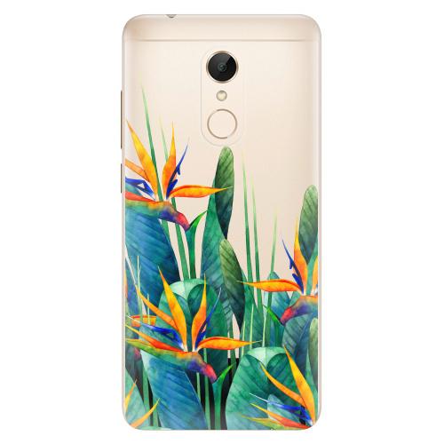 Silikonové pouzdro iSaprio - Exotic Flowers na mobil Xiaomi Redmi 5