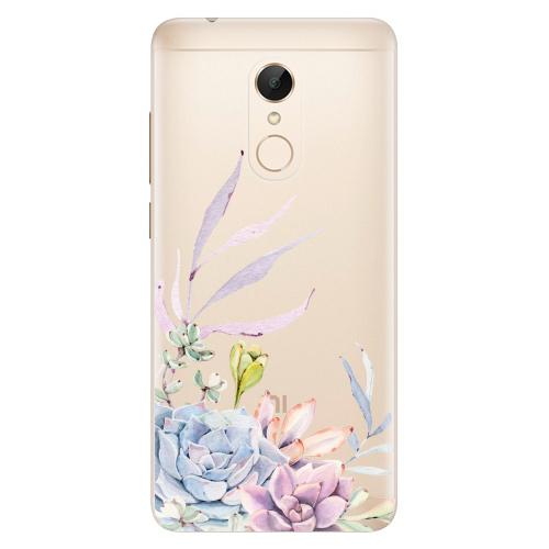 Silikonové pouzdro iSaprio - Succulent 01 na mobil Xiaomi Redmi 5