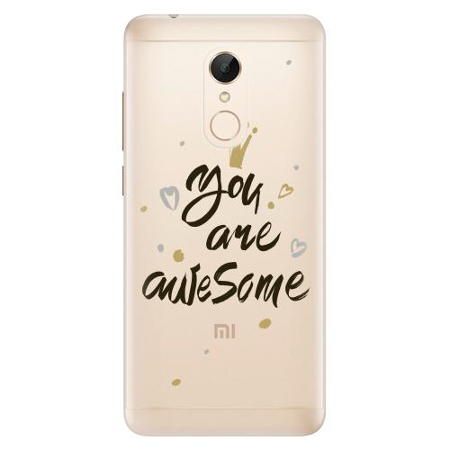 Silikonové pouzdro iSaprio - You Are Awesome black na mobil Xiaomi Redmi 5