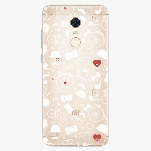 Silikonové pouzdro iSaprio - Vintage Pattern 01 white na mobil Xiaomi Redmi 5 Plus