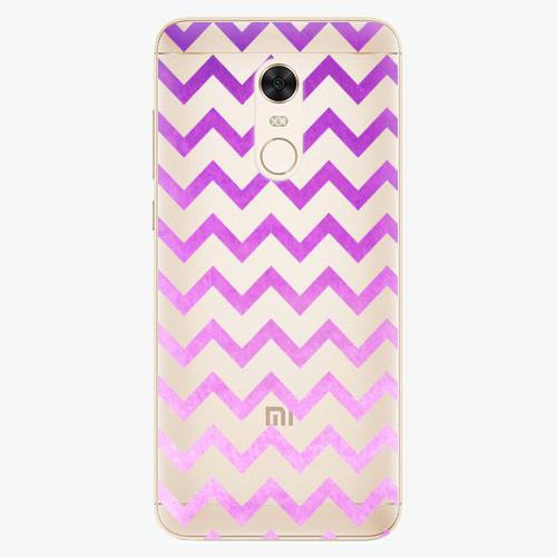 Silikonové pouzdro iSaprio - Zigzag purple na mobil Xiaomi Redmi 5 Plus