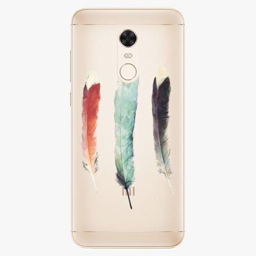 Silikonové pouzdro iSaprio - Three Feathers na mobil Xiaomi Redmi 5 Plus
