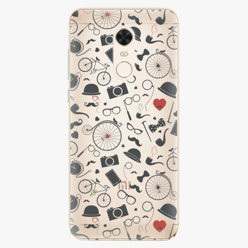 Silikonové pouzdro iSaprio - Vintage Pattern 01 black na mobil Xiaomi Redmi 5 Plus