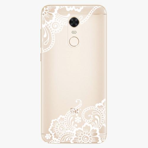 Silikonové pouzdro iSaprio - White Lace 02 na mobil Xiaomi Redmi 5 Plus