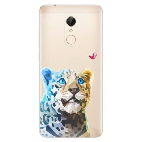 Silikonové pouzdro iSaprio - Leopard With Butterfly na mobil Xiaomi Redmi 5