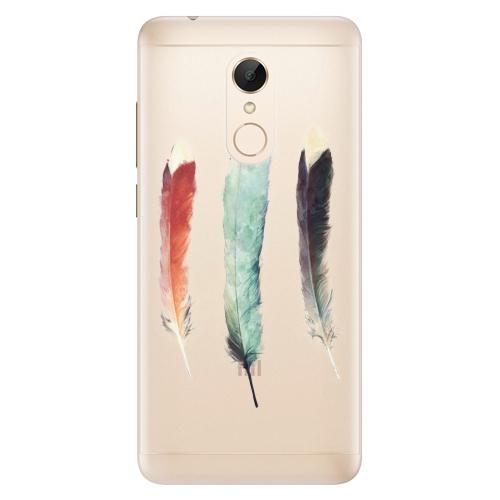 Silikonové pouzdro iSaprio - Three Feathers na mobil Xiaomi Redmi 5