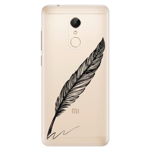 Silikonové pouzdro iSaprio - Writing By Feather black na mobil Xiaomi Redmi 5