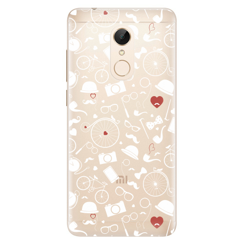 Silikonové pouzdro iSaprio - Vintage Pattern 01 white na mobil Xiaomi Redmi 5