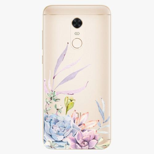 Silikonové pouzdro iSaprio - Succulent 01 na mobil Xiaomi Redmi 5 Plus