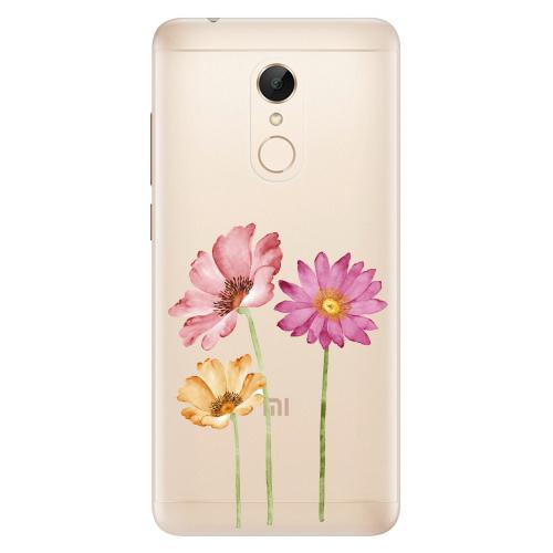 Silikonové pouzdro iSaprio - Three Flowers na mobil Xiaomi Redmi 5