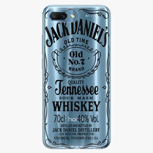 Silikonové pouzdro iSaprio - Transparent Black Jack na mobil Honor 10