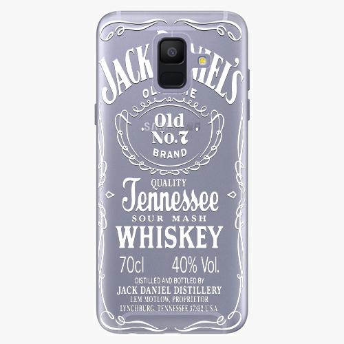 Silikonové pouzdro iSaprio - Transparent White Jack na mobil Samsung Galaxy A6 2018